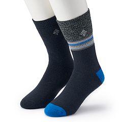 Men's Columbia 2-pack Patterned Thermal Crew Socks