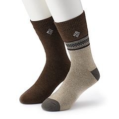 Men's Columbia 2-pack Patterned Thermal Crew Socks