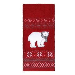 St. Nicholas Square® Christmas Traditions Polar Bear Hand Towel
