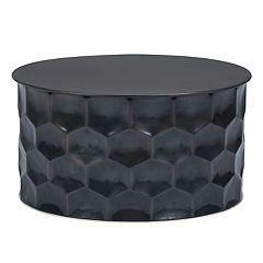 Simpli Home Whitney Metal Storage Coffee Table