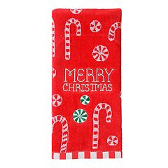 St. Nicholas Square® Holiday Cheer Candy Canes Hand Towel