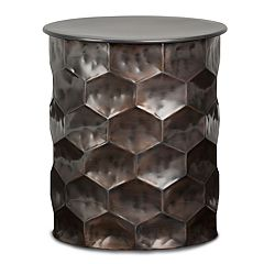 Simpli Home Whitney Metal Storage End Table