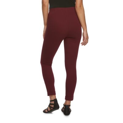 Women's Utopia by HUE Zipped High-Waisted Twill Leggings