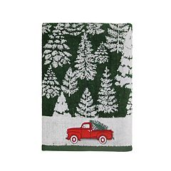 St. Nicholas Square® Farmhouse Christmas Tree Jacquard Bath Towel