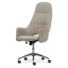 Simpli Home Zara Large Swivel Office Chair
