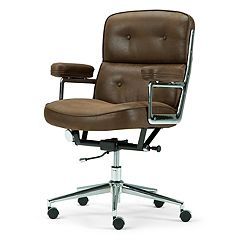 Simpli Home Barton Swivel Office Chair