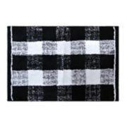 St. Nicholas Square® Christmas Traditions Plaid Bath Rug