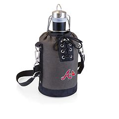 Picnic Time Atlanta Braves Insulated Growler Tote with 64-Ounce Growler