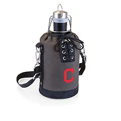 Picnic Time Cleveland Indians Insulated Growler Tote with 64-Ounce Growler