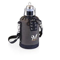 Picnic Time Milwaukee Brewers Insulated Growler Tote with 64-Ounce Growler