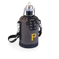 Picnic Time Pittsburgh Pirates Insulated Growler Tote with 64-Ounce Growler