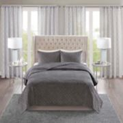 Madison Park Vivienne 3-piece Velvet Quilt Set