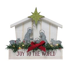 St. Nicholas Square® Light-Up Nativity Scene Christmas Table Decor
