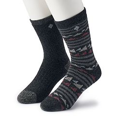 Men's Columbia 2-pack Fashion Wool-Blend Crew Socks