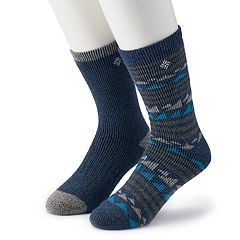 Men's Columbia 2-pack Fashion Wool-Blend Crew Socks