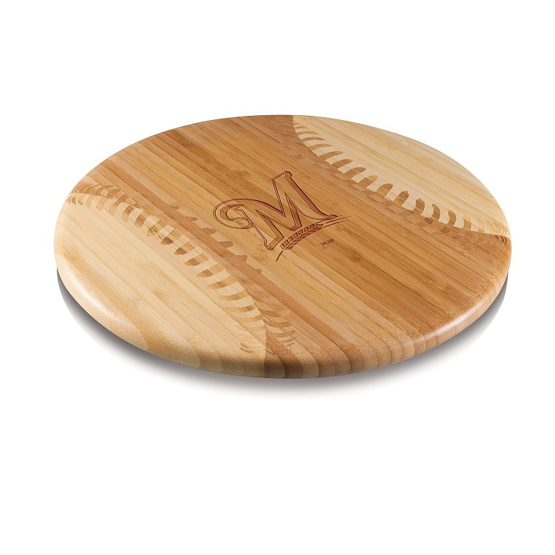 Picnic Time Milwaukee Brewers Wooden Cutting Board. Brown