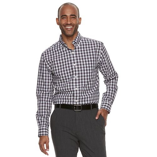 a8f367a788c6 Men s Croft   Barrow® Classic-Fit Plaid Easy-Care Button-Down Shirt