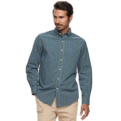 Men's Croft & Barrow® Classic-Fit Plaid Easy-Care Button-Down Shirt