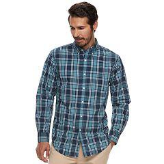 Men's Croft & Barrow® Classic-Fit Plaid Easy-Care Button-Down Shirt