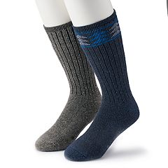 Men's Columbia 2-pack Patterned Wool-Blend Boot Crew Socks