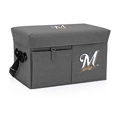Picnic Time Milwaukee Brewers Ottoman Cooler & Seat