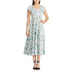 Women's Chaps Floral Midi Fit & Flare Dress