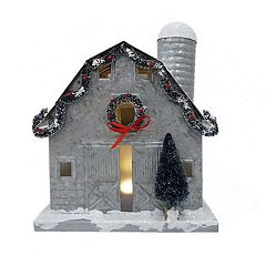 St. Nicholas Square® Light-Up Barn Christmas Table Decor