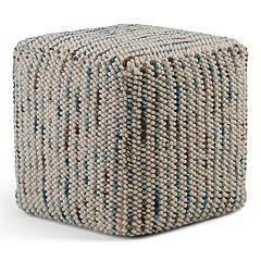 Simpli Home Zoey Cube Pouf