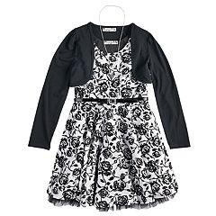 b69c5f47e8066 Girls 7-16 Knitworks Belted Skater Dress & Shrug