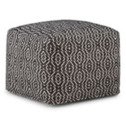 Simpli Home Graham Square Pouf