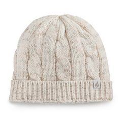 Women's Heat Holders Speckled Cable-Knit Thermal Beanie