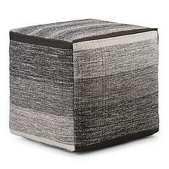 Simpli Home Naya Cube Pouf