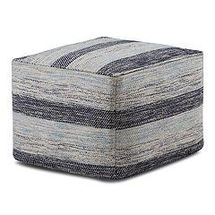 Simpli Home Clay Square Pouf