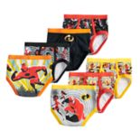 Disney / Pixar The Incredibles 2 Toddler Boy 7 Pack Brief Underwear