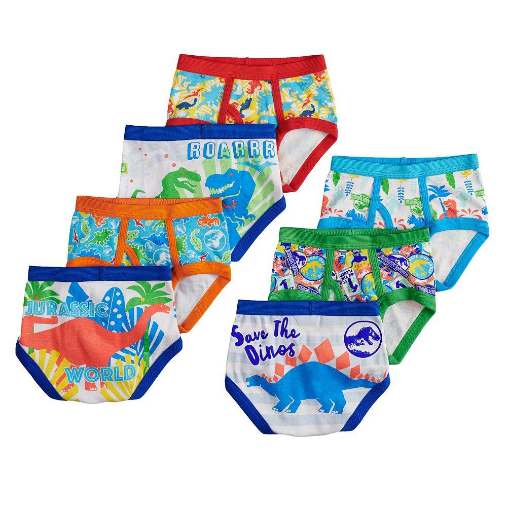 c1af620bf75 Toddler Boy 7-pack Jurassic Park Briefs Underwear