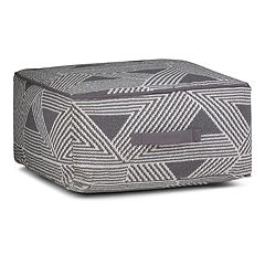 Simpli Home Headley Square Pouf