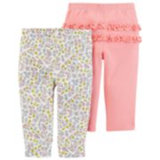 Baby Girl Carter's 2-pk. Ruffle Printed Pants