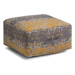 Simpli Home Tilley Square Pouf
