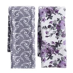 Mainstreet Floral Pattern Kitchen Towel 2-pack