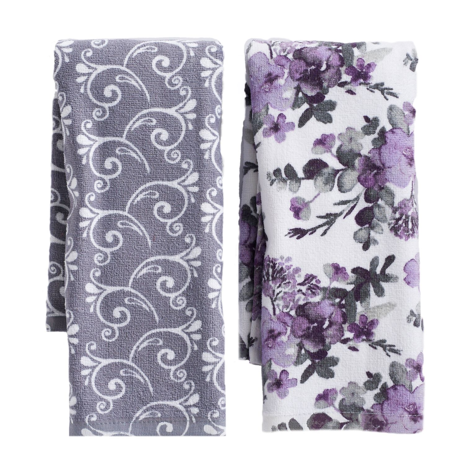 Mainstreet Floral Pattern Kitchen Towel 2 Pack