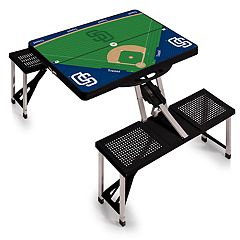 Picnic Time San Diego Padres  Portable Picnic Table with Field Design