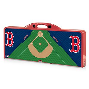Picnic Time Boston Red Sox Field Design Portable Picnic Table with Bench Seats