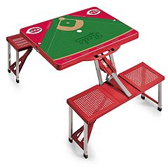 Picnic Time Cincinnati Reds  Portable Picnic Table with Field Design