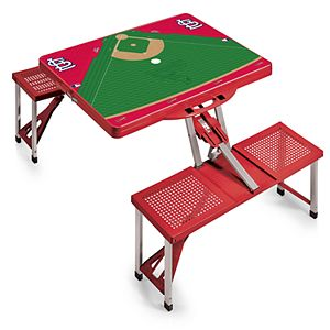 Picnic Time St. Louis Cardinals Portable Picnic Table with Field Design