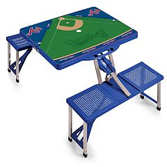 Picnic Time Atlanta Braves  Portable Picnic Table with Field Design