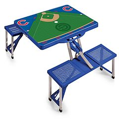 Picnic Time Chicago Cubs  Portable Picnic Table with Field Design