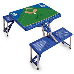 Picnic Time Los Angeles Dodgers  Portable Picnic Table with Field Design