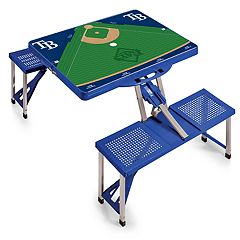 Picnic Time Tampa Bay Rays  Portable Picnic Table with Field Design