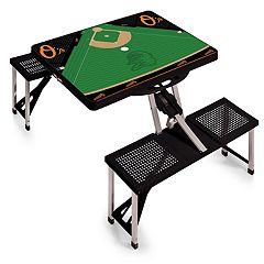Picnic Time Baltimore Orioles  Portable Picnic Table with Field Design