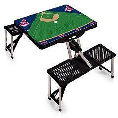 Picnic Time Cleveland Indians  Portable Picnic Table with Field Design